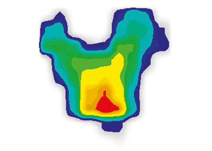 Pressure mapping of a typical saddle