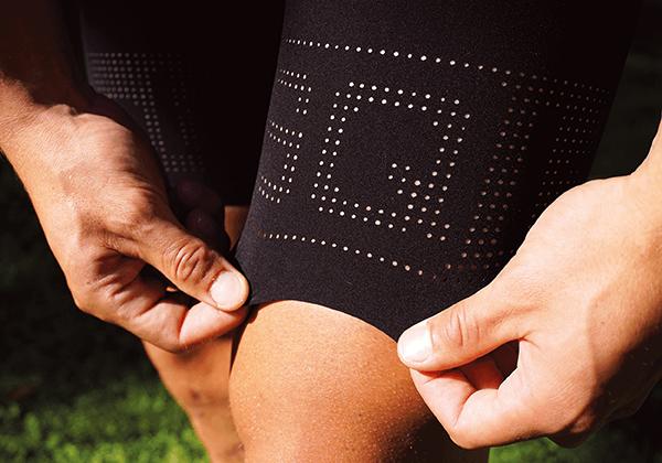 Lasered leg cuff & compression fabric