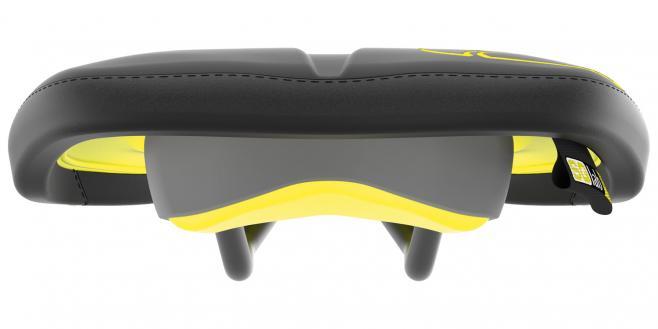 SQlab Sattel 611 ERGOWAVE® active ltd. Flow Yellow - 13cm