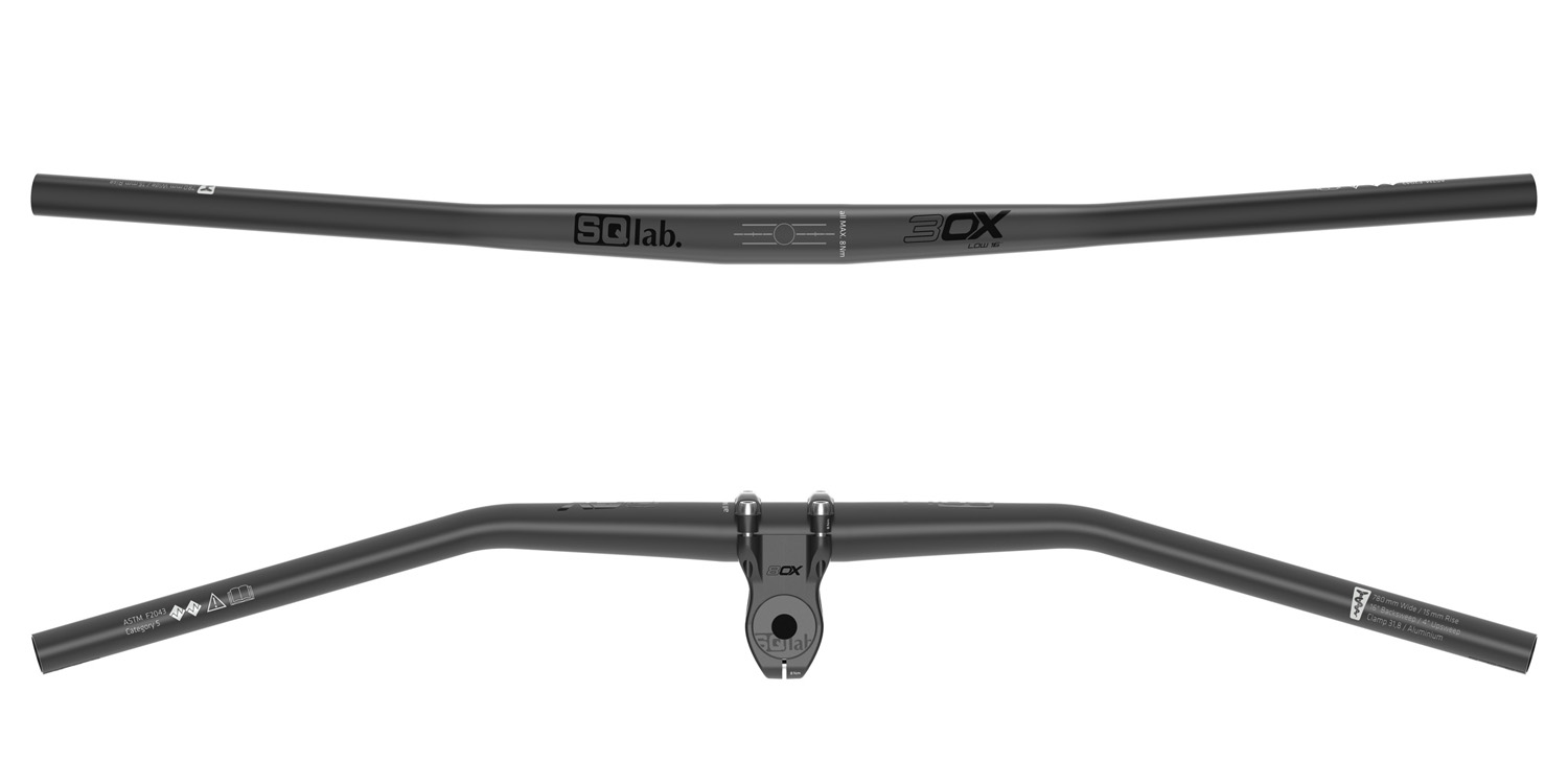 SQlab 30X high alloy riser bar handlebar, black 12 deg//780mm 31.8